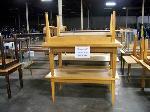 Lot: 549 - (7) Assortecd Wood Classroom Tables