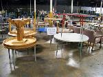 Lot: 557 - (12) Assorted Round Tables
