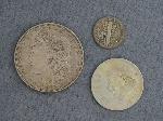 Lot: 3929 - 1919 MERCURY DIME & 1921 MORGAN DOLLAR
