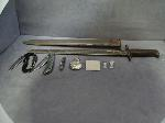 Lot: 3932 - BAYONET, SILVER EARRINGS & 14K WEDDING SET