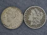 Lot: 3949 - 1889 & 1899-O MORGAN DOLLARS
