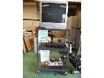Lot: 63.UV - BRETFORD 3  TIER ROLLING CART, ZENITH TELEVISION & CALIFONE TURNTABLE