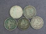 Lot: 3990 - (5) MORGAN DOLLARS 1896-1921