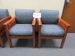 Lot: 40-001 - (2) Upholstered Waiting Room Chairs