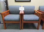 Lot: 40-002 - (2) Upholstered Waiting Room Chairs