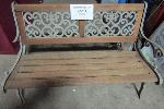 Lot: 40-014 - Wood and Iron Exterior Bench