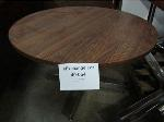 Lot: 40-054 - 48-inch Round Laminated Table with Chrome Base
