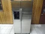 Lot: A6336 - Working GE Profile Stainless Refrigerator