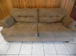 Lot: A6347 - Ashley Furniture Suede Tan Sofa