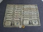 Lot: 4035 - (6) 1963 RED SEAL $5 NOTES & (2) 1953 RED SEAL $2 NOTES