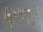 Lot: 4067 - EARRINGS, RING, NECKLACE & 10K NECKLACE