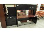 Lot: 2293 - Metal Desk with Hutch