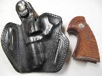 Lot: 4145 - LEATHER HOLSTER & GUN GRIPS