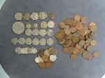 Lot: 4166 - 1864 CN INDIAN PENNY, BARBER DIMES & FOREIGN COINS