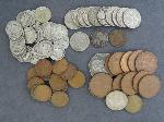 Lot: 4190 - DIMES, NICKELS, INDIAN & WHEAT PENNIES & FOREIGN