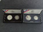 Lot: 4202 - 1991 MT. RUSHMORE SET & (2) 1989 CONGRESSIONAL SETS