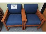 Lot: 50-004 - (2) Upholstered Waiting Room Chairs