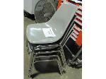 Lot: 50-091 - (4) Grey Acrylic Stacking Chairs