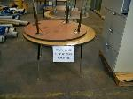 Lot: 836 - 838 - (10) ASSORTED ROUND TABLES & (5) WOOD BENCHES