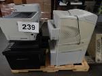 Lot: 239 - (4) Printers, Copy Machine & Display Screens