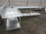 Lot: 20 - L-Shaped Stainless Steel Table