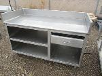 Lot: 21 - Stainless Steel Table with Drawer and storage space