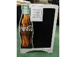 Lot: 63.HOU - COCA COLA SIGNBOARD AND (2) ROLLING DRINK COOLERS