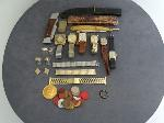 Lot: 4458 - KNIFE, RAZORS, WATCHES, TOKENS & 14K RING