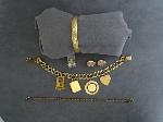 Lot: 4464 - GOLD FILLED BRACELETS, PINS & 10K RING