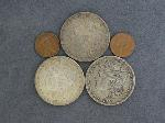 Lot: 4479 - (3) MORGAN DOLLARS, PENNY & FOREIGN COIN