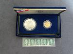 Lot: 4492 - 1987 2 PC. U.S. CONSTITUTION PROOF SET & STAMPS