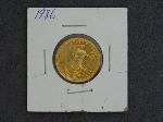 Lot: 4495 - 1986 U.S. GOLD 1/4 OZ. GOLD EAGLE - UNC