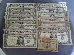 Lot: 4501 - 1934 $20 BILL, 1934 $10 BILL & (13) SILVER CERTS.