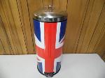 Lot: A6669 - Union Jack Stainless Steel Trash Can