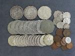Lot: 4508 - MORGAN & PEACE DOLLARS & FOREIGN COINS