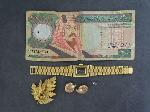 Lot: 4510 - 14K EARRINGS & FOREIGN CURRENCY