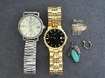 Lot: 4518 - WATCHES & 14K RING
