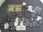 Lot: 4524 - 10K NECKLACE WITH 14K CHARM & CURRENCY