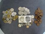 Lot: 4543 - HALVES, QUARTERS, DIMES, NICKELS & FOREIGN COINS
