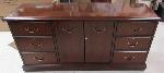 Lot: 51-090 - 5-ft Long Solid wood credenza