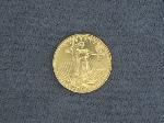 Lot: 4563 - 1989 HALF OZ. FINE U.S. $25 GOLD EAGLE
