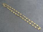 Lot: 4570 - 14K DOUBLE LINK CHAIN NECKLACE