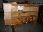 Lot: 87-123.OBB - WOOD SHELF/CABINETS, CHAIRS, SHELVES, DESKS