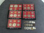 Lot: 4605 - PROOF SETS, DIMES, NICKELS & FOREIGN COINS