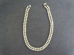 Lot: 4614 - PEARL LIKE BEADED NECKLACE