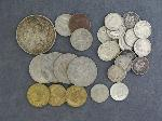 Lot: 4629 - 1921 MORGAN DOLLAR, DIMES, NICKELS & FOREIGN COINS