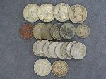 Lot: 4631 - QUARTERS, DIME, NICKELS & FOREIGN COINS