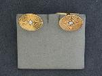 Lot: 4636 - 14K PAIR CUFFLINKS