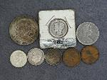 Lot: 4642 - FRANKLIN HALF, DIMES, PENNIES & FOREIGN COIN
