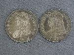 Lot: 4648 - (2) CAPPED BUST HALF DOLLARS